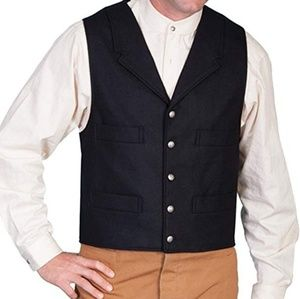 Wahmaker Men's Wool Blend 4 Pocket Vest